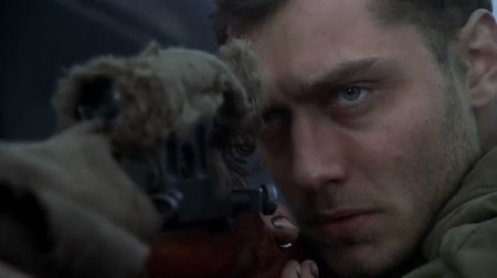 Jude Law as Vasily Grigorievich Zaitsev (1915–1991), in Enemy at the Gates a (great) movie which notably failed to perturb the Left