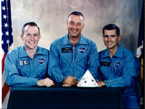 The crew of the Apollo One mission